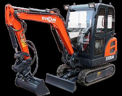 Everun Grävmaskin ERE18 | med skopor | 26hk | Väger 1800kg